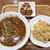青菜 - 料理写真:担々麺(黒胡麻担々麺)と半チャーハンセット