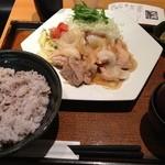 大戸屋 - 豚生姜焼き