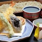 越後そば 弥彦 - 料理写真:大海老天へぎ