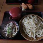 手ぶちうどん 吉平 - 肉増し肉ネギうどん980円