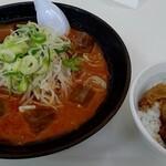 HOTめん花 - 料理写真:冷やし味噌、ミニ焼肉丼