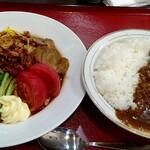 大井楼 - 料理写真:冷やしラージャー麺とミニカレー