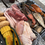 カリフォルニア バーベキュー ビーチ - 料理写真:夏の豪華海鮮BBQ