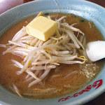 くるまやラーメン 松本店 - セットの味噌ラーメン(バター追加)