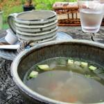 15765139 - サーロインハンバーグバーガー(野菜たっぷりスープ付)