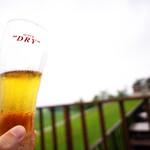 ハーベスター八雲 - 暑い日はテラスでビールも。
