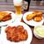 ハーベスター八雲 - 料理写真:フライドチキンとエスニックチキン、コールスローも。