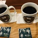 イシヤカフェ - 白い恋人ブレンドコーヒー (Mサイズ)※「白い恋人」が1枚サービスで付きます。