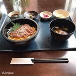 源喜屋 - 黒毛和牛サーロインのステーキ丼セット(Before)