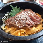 源喜屋 - 黒毛和牛サーロインのステーキ丼(Before)