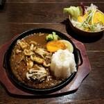 Rest Area JiZi - 料理写真:きのこバーグ200gセット(税込1,200+250円)