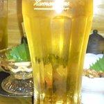 海鮮酒房 うめまる。 - 相方の生ビールです