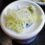 日本料理 いな穂 - 「薬味と下はつけ汁」です(11/10UP)