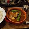 Wayoushokudouekuryu - 料理写真:大盛ご飯、チキンスープカレー、サラダ、スープパウダー!