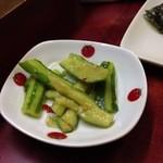 青葉 - 涼拌小黃瓜(キュウリの小菜)