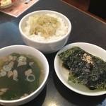大苑 - ネギめし(スープ、韓国海苔付き)