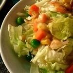 ミルミレ - ディナーセットのサラダ
