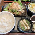 炭火焼豚丼 信玄 - 料理写真:土佐酢皿セット