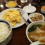 三和楼 - ランチ、豚肉の細切り玉子炒め