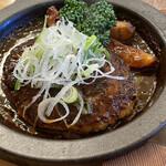GRILL1930 つばめグリル - 八丁味噌デミグラスソースの煮込みハンブルグステーキ