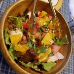 burassuri-wakano - 蒸し鶏とオレンジのサラダ