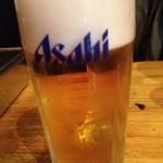 立ち呑み処 力 - 生ビールは熟撰?