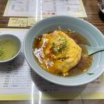 大衆中華 なるみ - 料理写真:チキンラーメンの天津ヤキヤキ大盛①
