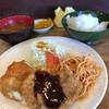 プチグリルサトー - 料理写真:クリームコロッケと豚カツ2枚