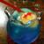 金魚カフェ - クリームソーダあお