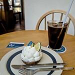 オハコルテ - 料理写真:マイヤーレモンのティラミスタルト&アイスコーヒー( *´艸)