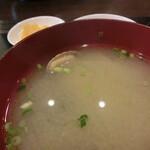 おぎの - アサリの味噌汁