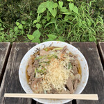 南天 - 肉そば('21/09/07)
