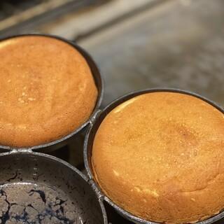 1枚1枚丁寧に焼き上げるパンケーキ
