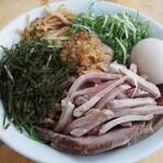 竹麺亭 - 料理写真:ガーリック和え麺 + 半熟煮玉子&チャーシュー増し