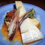 鹿の子 - コース 野菜の炊合せ