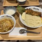 湯河原 飯田商店 - 料理写真:カレーつけ麺 1300円 一口ご飯 50円