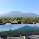 軽井沢倶楽部 ホテル軽井沢1130 - (おまけ)屋上展望台から観た「浅間山」・・写真付きの詳しい説明板まである
