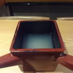 京屋 - そば湯