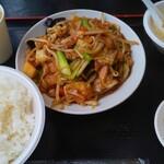 アジア料理 菜心 - XO醤と野菜のとり肉炒め