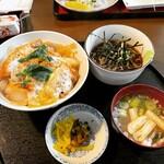 三亀 - カツ丼ミニそば ¥770-