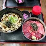 さらしな - 天然 中トロ丼 セット(そば・きしめん付) 1150円