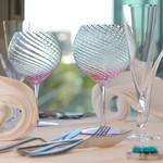 リストランテ ウミリア - 綺麗なカトラリーやグラスが美味しさをより一層引き立てます。