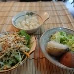 カレー オオバ - サラダや薬味など