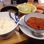 松屋 - チキントマトガーリック定食580円
