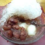 琉球料理 亜砂呂 - ぜんざいの中は・・・