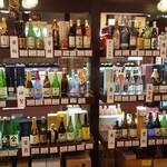 吟醸酒房 油長 - 「伏見の酒」蔵元別陳列棚