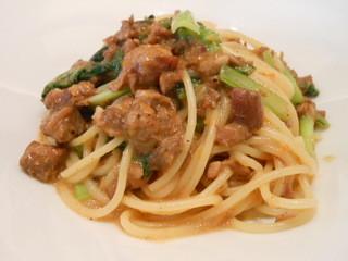 チモロセルヴァジオ - 鴨もも肉のスパゲッティーニ