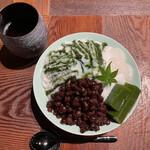 あまねや - 料理写真:粉雪氷 抹茶小豆