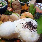 はぎ原 - ひょうたん型に抜かれた「ごはん」もツヤツヤで美味しい。