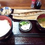 15788985 - 焼魚定食さんま塩焼き\750